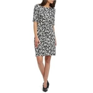 Nic + Zoe Lively Twist Sheath Dress Black/White S